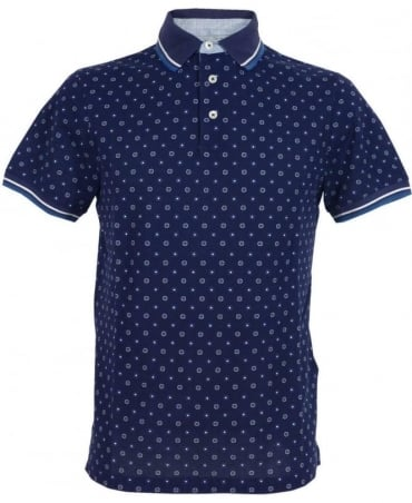 Printed Polo Shirt HM561200 In Blue/White
