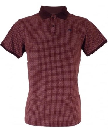Scotch & Soda Prune & Pink Patterned Polo Shirt