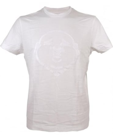 True Religion Puff Print Buddha T-shirt In White