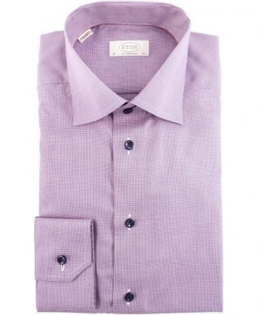 Eton Shirts Purple 360200337 Contemporary Fit Shirt