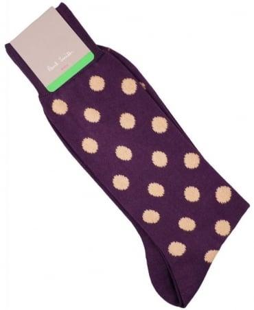 Paul Smith - Accessories Purple AMXA/800E/F570 Polka Dot Socks