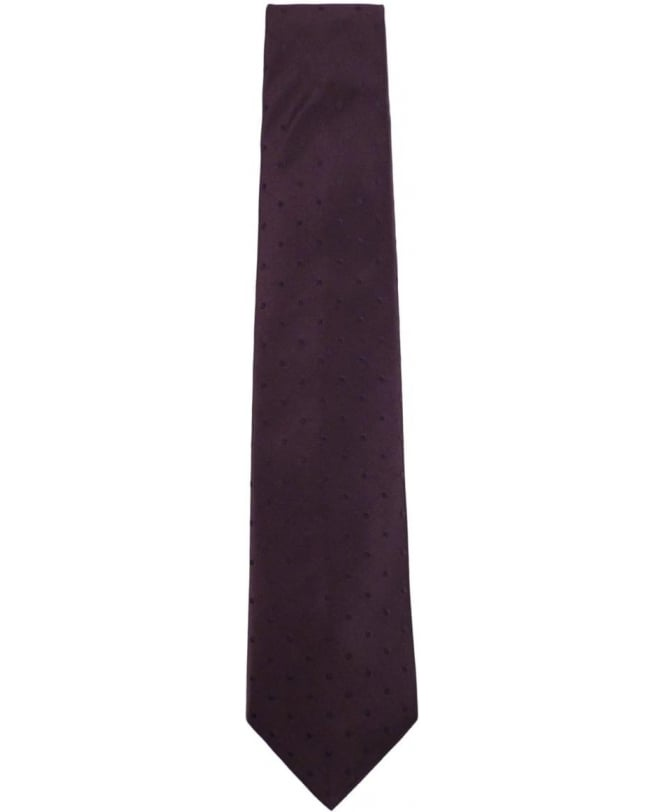 Paul Smith - Accessories Purple APXA-552M-Z07 Polka Dot 8cm Blade Tie