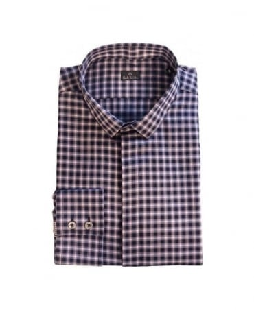 Paul Smith  Purple & Black Check Casual Shirt