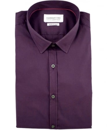 Hamaki-Ho Purple CA601H Made In Italy Shirt