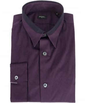 Paul Smith  Purple Contrast Collar Shirt