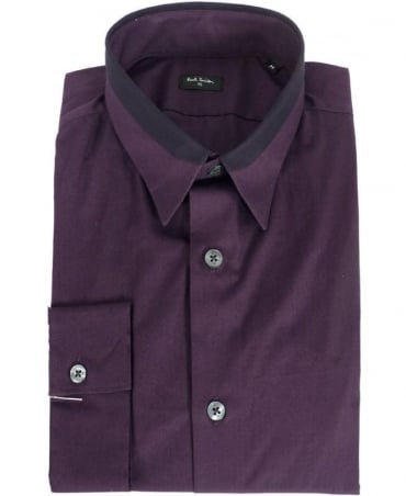 Paul Smith  Purple Contrast Collar Shirt