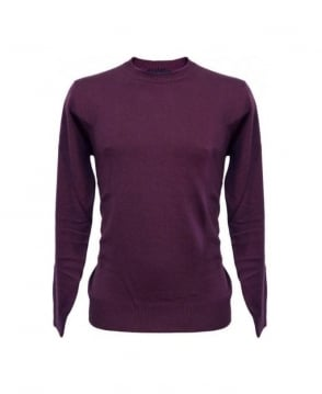 Paul Smith  Purple Crew Neck Knitwear