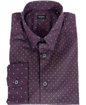 Paul Smith  Purple Diamond & Star Pattern Shirt