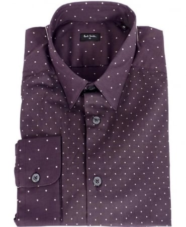 Paul Smith  Purple Diamond & Star Pattern Shirt