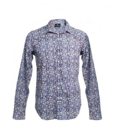 Scotch & Soda Purple Floral Regular Fit Shirt