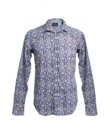Scotch & Soda Purple Floral Shirt