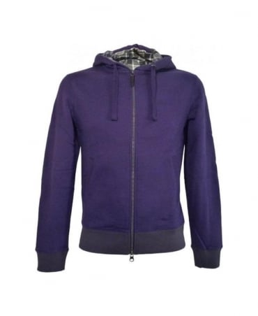 Armani Purple Hooded Slim Fit Sweatshirt