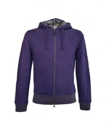 Armani Purple Hooded Slim Fit Sweatshirt
