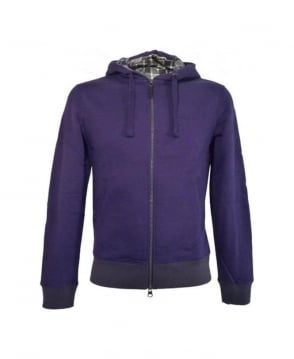 Armani Purple Hooded Sweatshirt