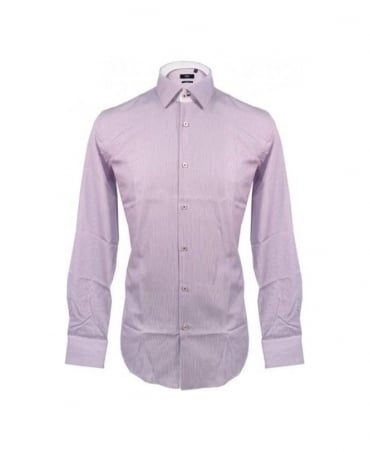 Hugo Boss Purple Juri Fine Stripe Shirt