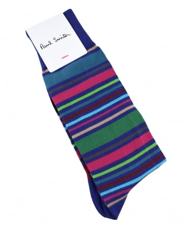 Paul Smith  Purple Multi Stripe Wolfie ATXC/3080A/K589 Socks