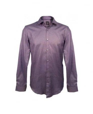 Hugo Boss Purple Pattern Nemos Slim Fit Shirt