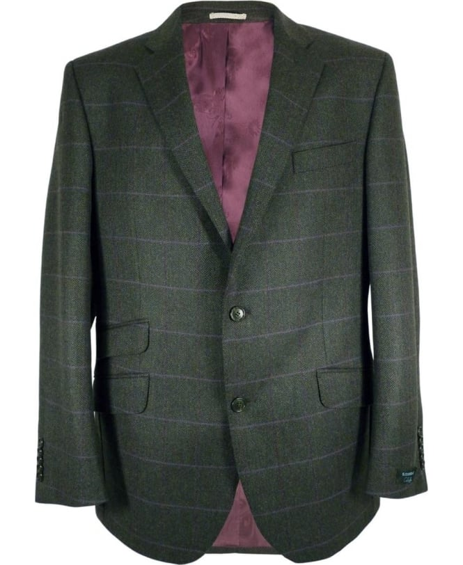 Gerard Connolly Purple Window Pane & Green Herringbone Richard Jacket
