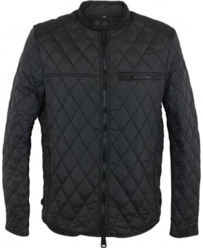 Replay Quilted Nylon Jacket In Black