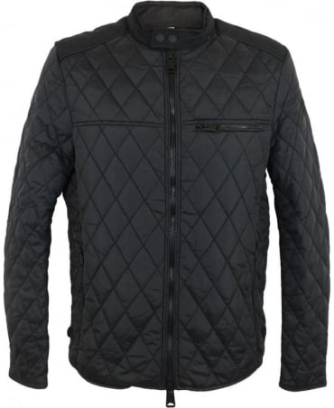 Quilted Nylon Jacket In Black