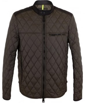 Replay Quilted Nylon jacket In Mud Brown