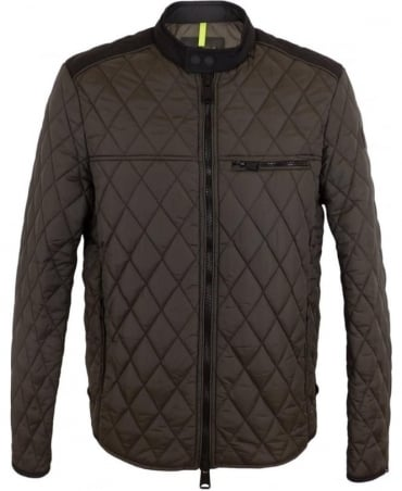 Quilted Nylon jacket In Mud Brown