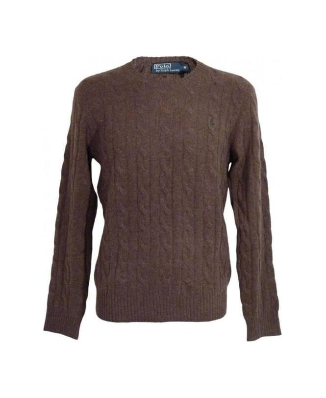 Ralph Lauren Brown Lambs Wool Jumper