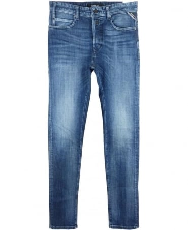 Replay RBJ.901 Tapered Fit Jeans In Blue