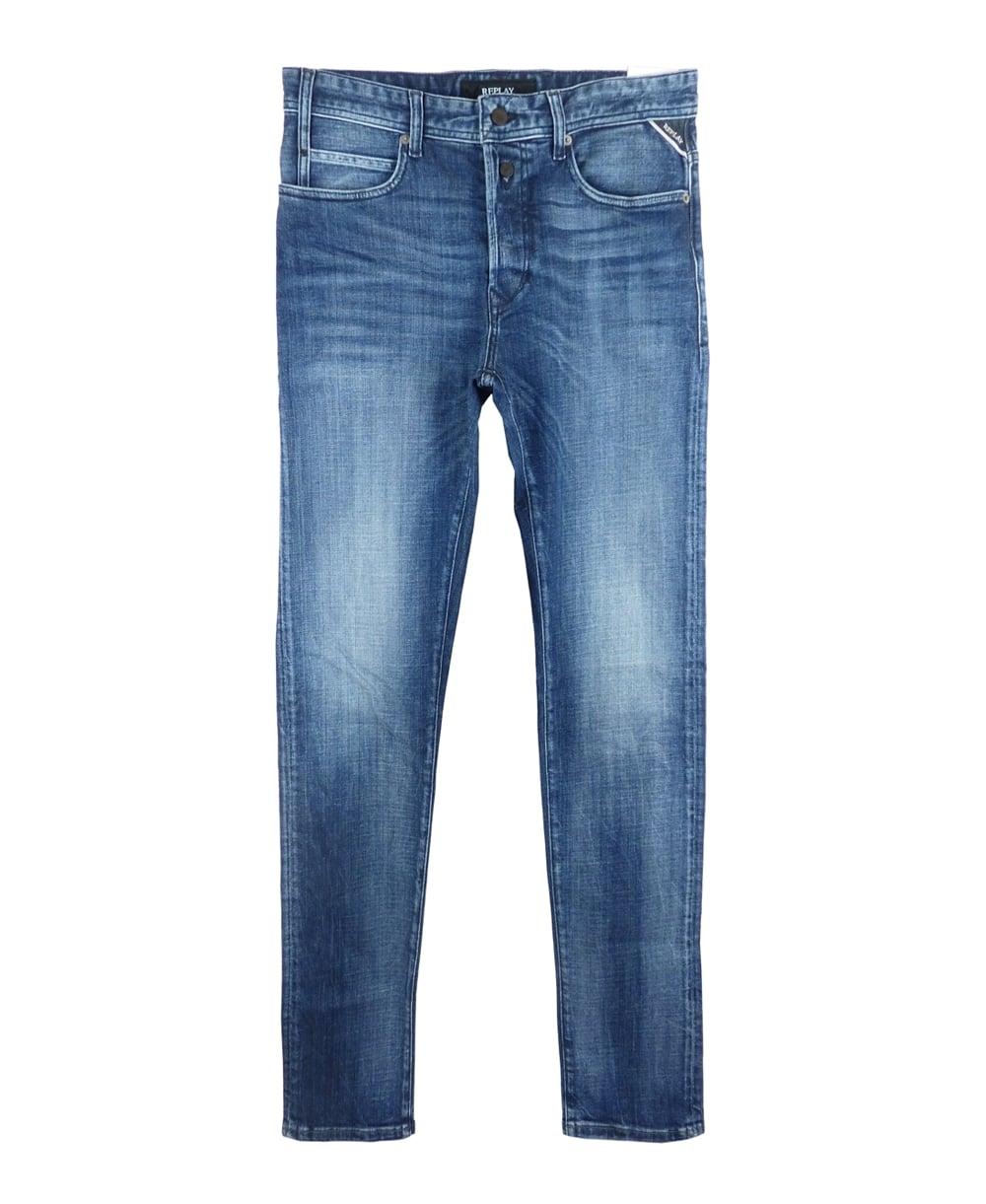 tapered fit jeans in blue. Black Bedroom Furniture Sets. Home Design Ideas