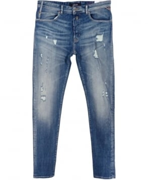 Replay RBJ.901 Tapered Fit Jeans In Light Blue