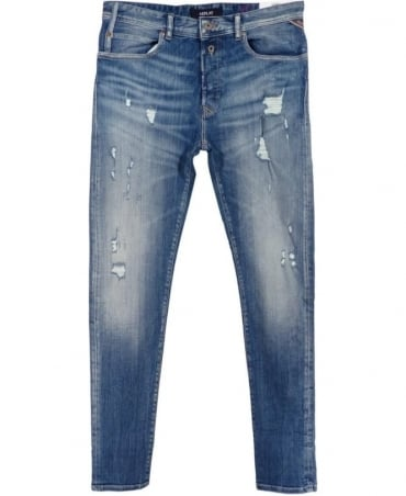 RBJ.901 Tapered Fit Jeans In Light Blue