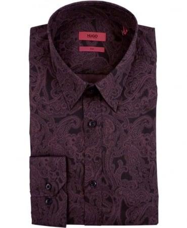 Hugo Red 50296919 Elisha Paisley Shirt