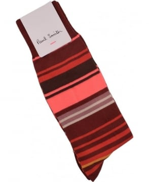 Paul Smith  Red ARXC-380A-K301 Town Stripe Socks