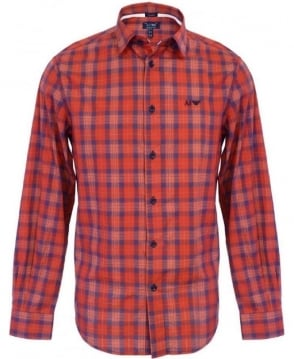 Armani Jeans Red & Blue Check V6C25GY Shirt