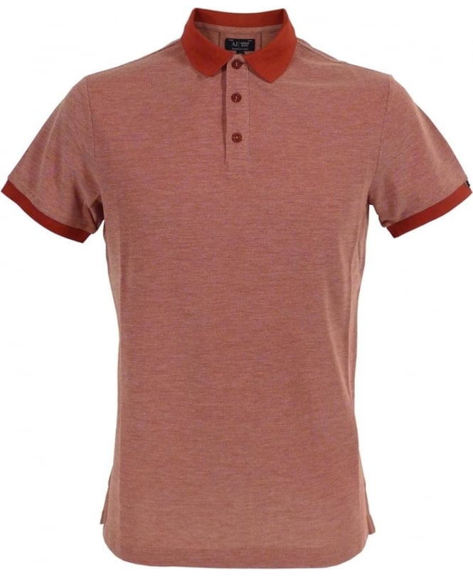 Armani Jeans Red C6M7AQF Short Sleeve Polo