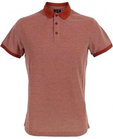 Armani Red C6M7AQF Short Sleeve Polo