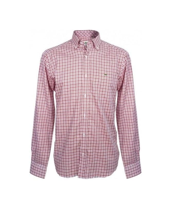 Lacoste Red Check CH5931 SZT Shirt