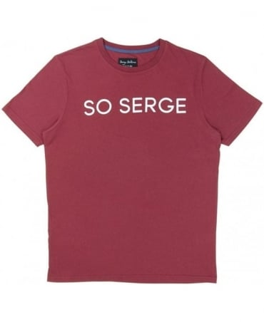 Serge DeNimes Red Crew Neck So serge T-shirt