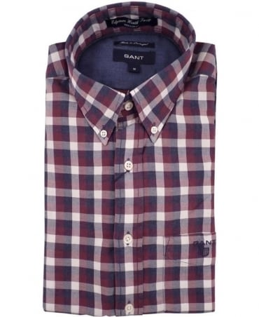 Gant Red Edgemere Heather Check Shirt