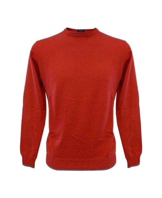 Armani Jeans Red Elbow Patch Knitwear U6W83