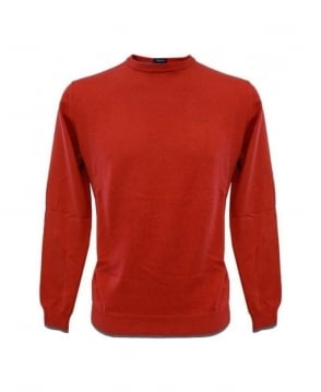 Armani Jeans Red Elbow Patch Knitwear U6W83