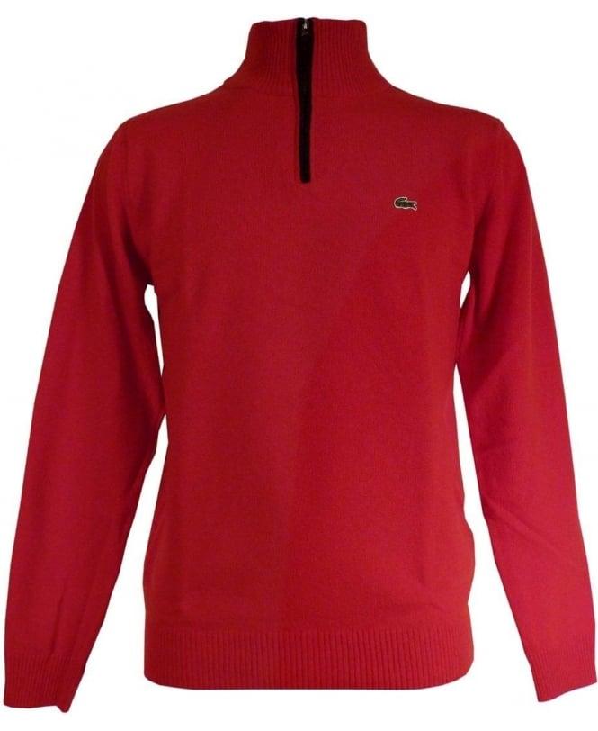 Lacoste Red Half Zip Knitwear