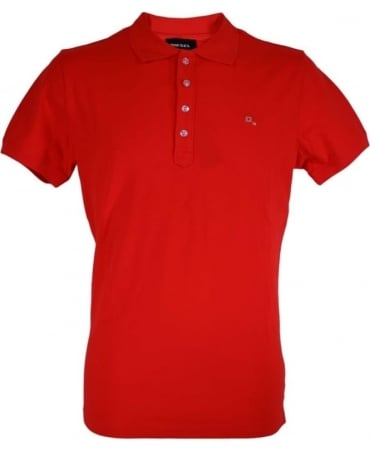 Diesel Red 'Heal' Polo
