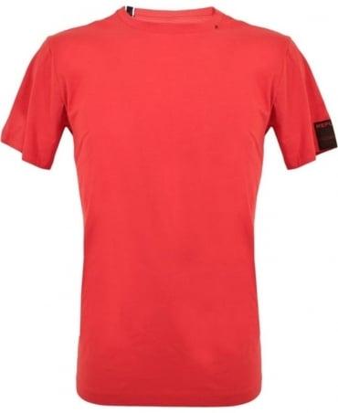 Replay Red Logo Crew Neck T-Shirt