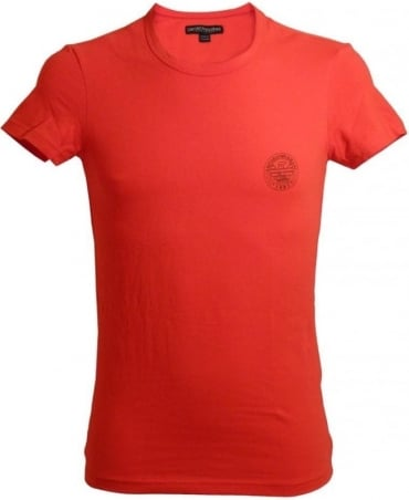 Armani Red & Logo Crew Neck Underwear T-Shirt
