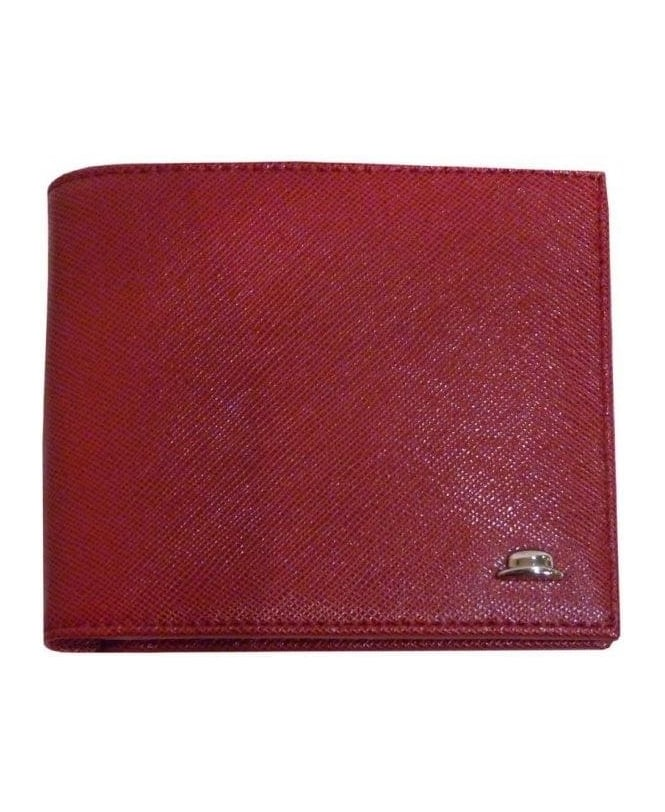 Hackett Red Mayfair Double Billfold Wallet