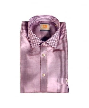 Hugo Boss Red/Navy/White Check Egrife Shirt