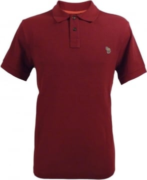 Paul Smith  Red Organic Cotton Zebra Logo Polo