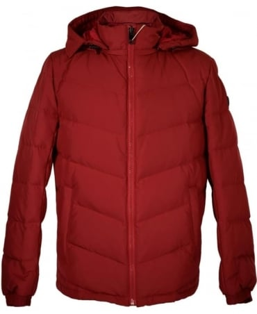 Hugo Boss Red 'Owillem' Down Quilted Jacket