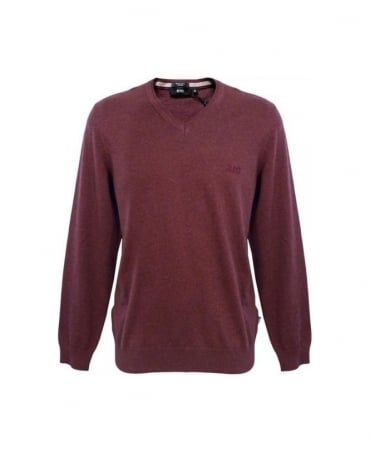 Hugo Boss Red/Purple Barnabas 50262276 Jumper